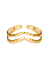 With love With Love ring - double wave gold