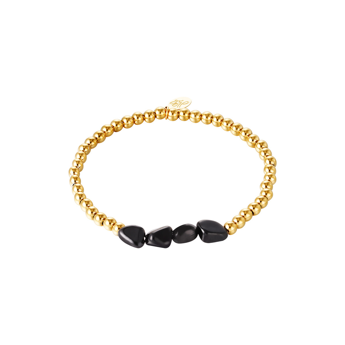 With love Bracelet black rocks