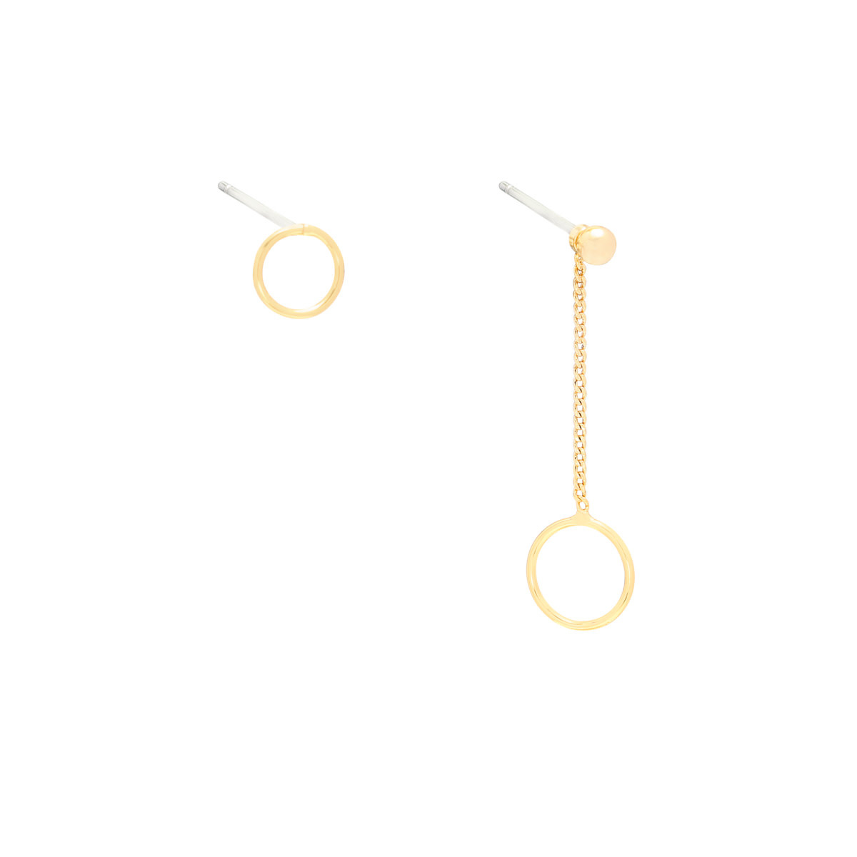 With love Earrings circular gold