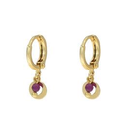 With love Earrings love me tender gold