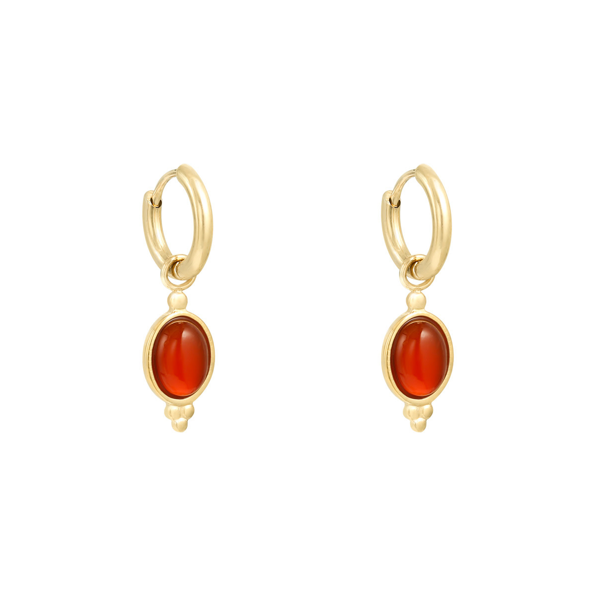 With love Earrings mystic stone - red