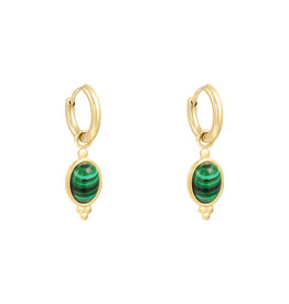 With love Earrings mystic stone - green
