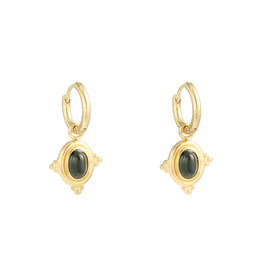 With love Earrings mystic wave - black