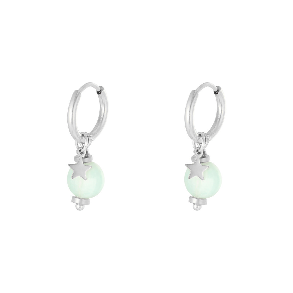 With love Earrings so charming silver - mint