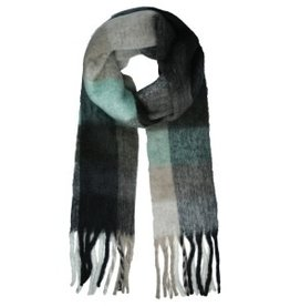 With love Scarf winter magic black - mint