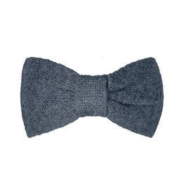 With love Headband cozy bow - dark grey