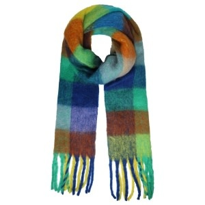 With love Scarf winter magic blue - green