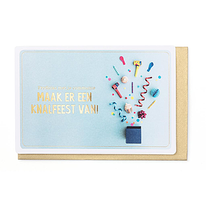 Enfant Terrible Enfant Terrible card  + enveloppe 'communie knalfeest'