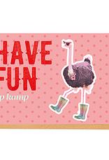 Enfant Terrible Enfant Terrible card + enveloppe 'have fun op kamp'