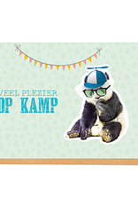 Enfant Terrible Enfant Terrible card + enveloppe 'veel plezier op kamp'