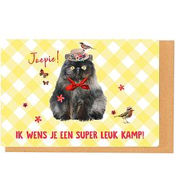 Enfant Terrible Enfant Terrible card + enveloppe 'ik wens je een super leuk kamp'