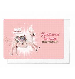 Enfant Terrible Enfant Terrible card + enveloppe 'Fabulousness has no age'