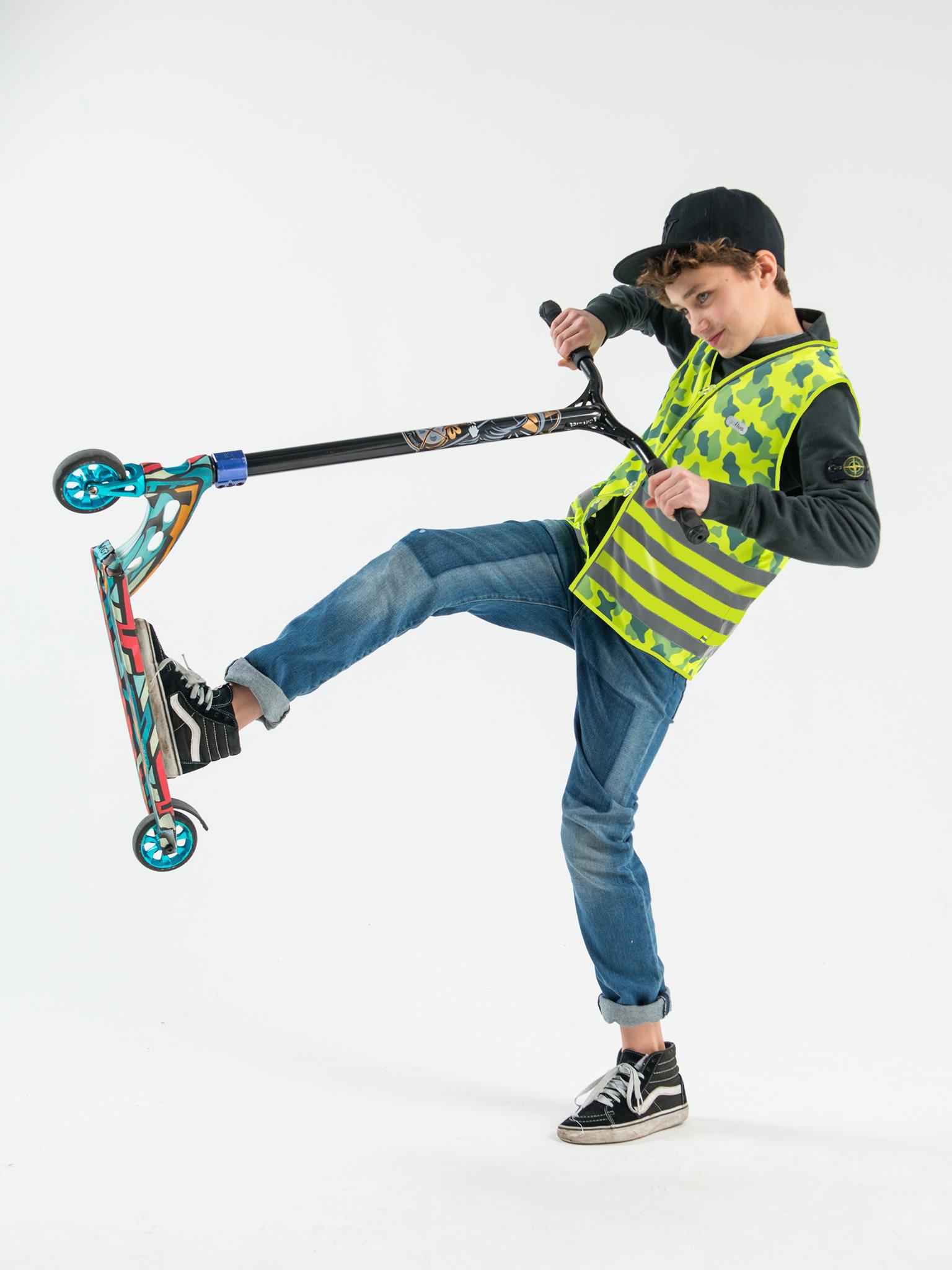 Go Fluo Camou Greenish - kids