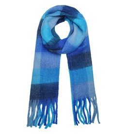 With love Scarf checkered blue