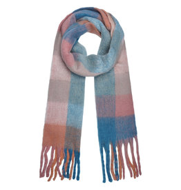 With love Scarf checkered  pink