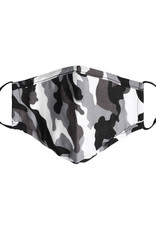 With love Mouth mask  Camou black - white