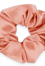 With love Scrunchie silky flamingo rose