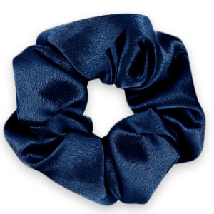 With love Scrunchie silky deep blue
