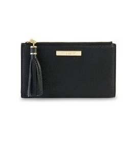 Katie Loxton Sophia tassel fold out purse black - 11 x 19 cm
