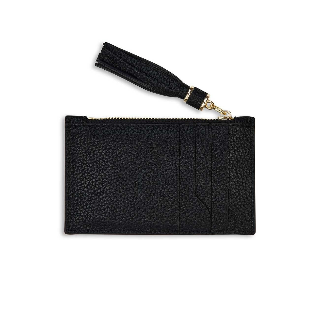 Katie Loxton Sophia tassel card holder black - 8.5 x 13.5 cm