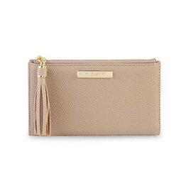 Katie Loxton Sophia tassel card holder taupe - 8.5 x 13.5 cm