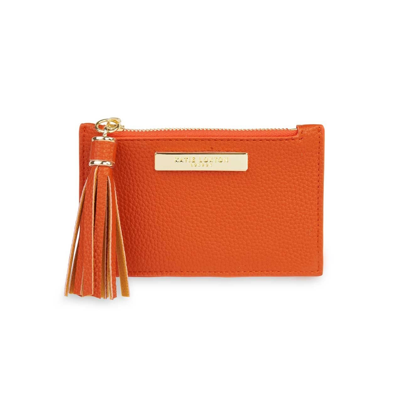 Katie Loxton Sophia tassel card holder burnt orange - 8.5 x 13.5 cm