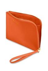 Katie Loxton Katie Loxton secret message pouch - Choose happy - burnt orange- 16 x 24 cm