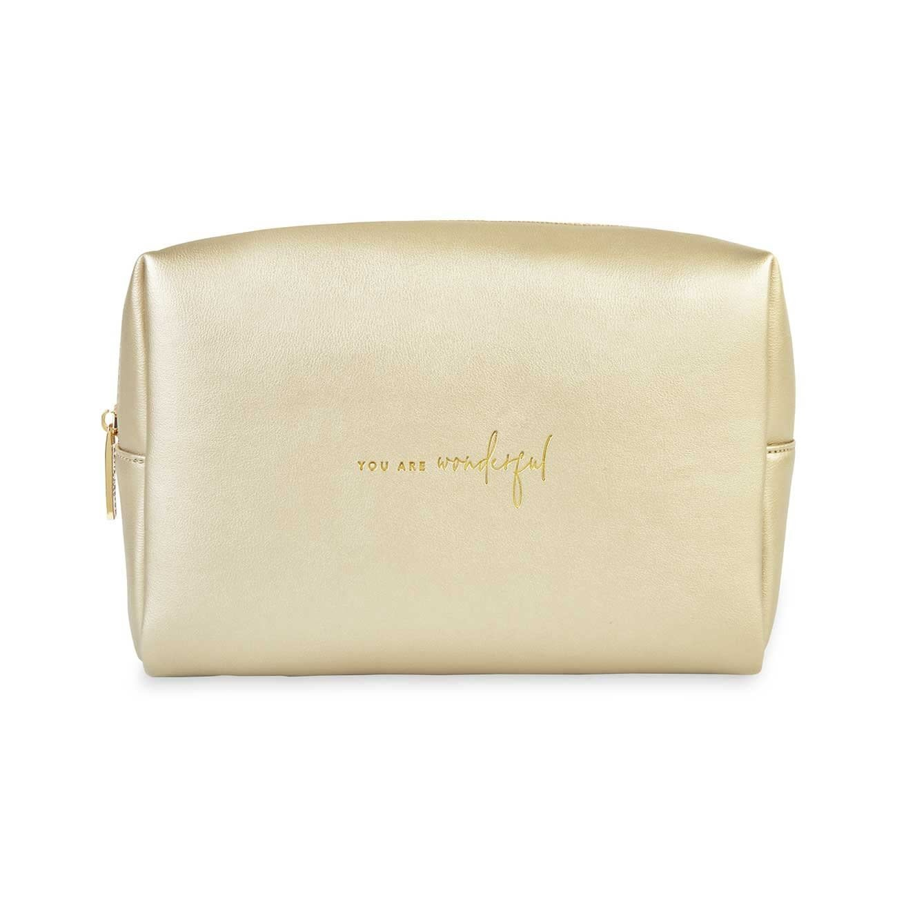 Katie Loxton Wash bag - You are wonderful - Gold - 16 x 24 x 8 cm