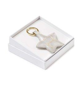 Katie Loxton Boxed sentiment keyring - Fabulous friend - silver - 6.1 x 6.4 cm