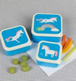 Rex London Set of 3 snack boxes Magical unicorn
