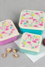 Rex London Set of 3 snack boxes Flamingo bay