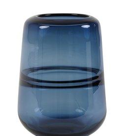 Light & Living Glass vase blue 16.5 x 22 cm
