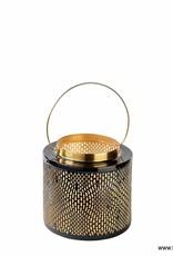 Florissima Metal lantern black - gold 20.5 x 21 cm