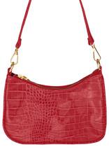With love Handbag croco - Red 20 x 14 cm
