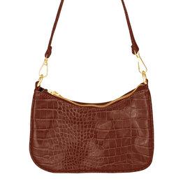 With love Handbag croco - Cognac 20 x 14 cm