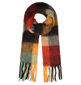 With love Scarf winter magic yellow - red