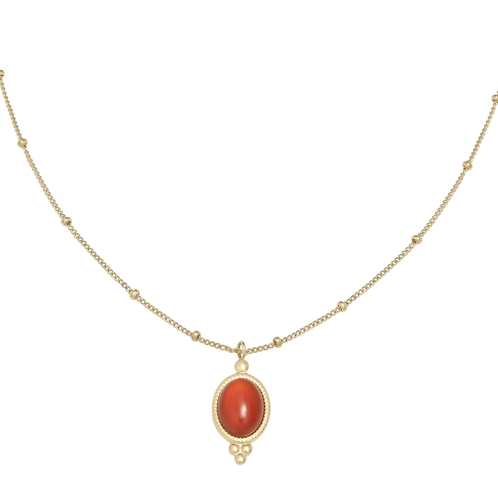With love Necklace mystic stone - red