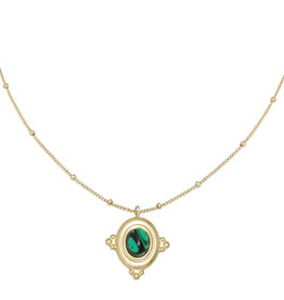 With love Necklace mystic love - green