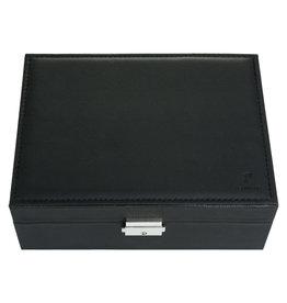 With love Jewellery box black 23 x 17 cm