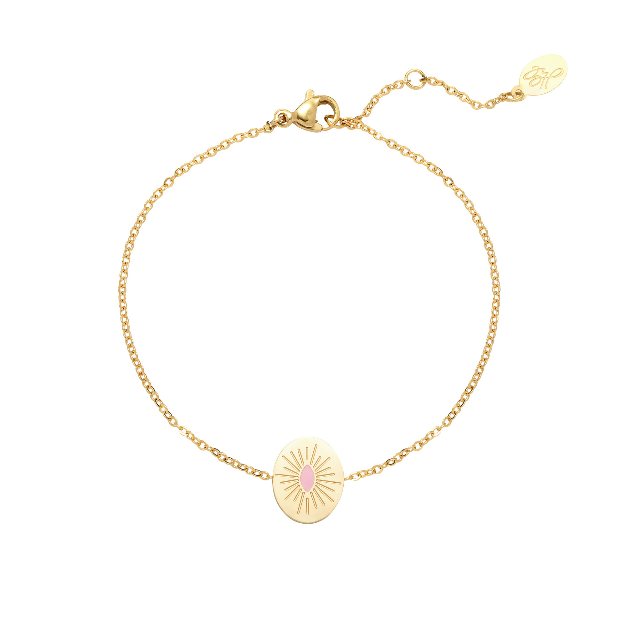 With love Bracelet sweet like candy gold - light pink