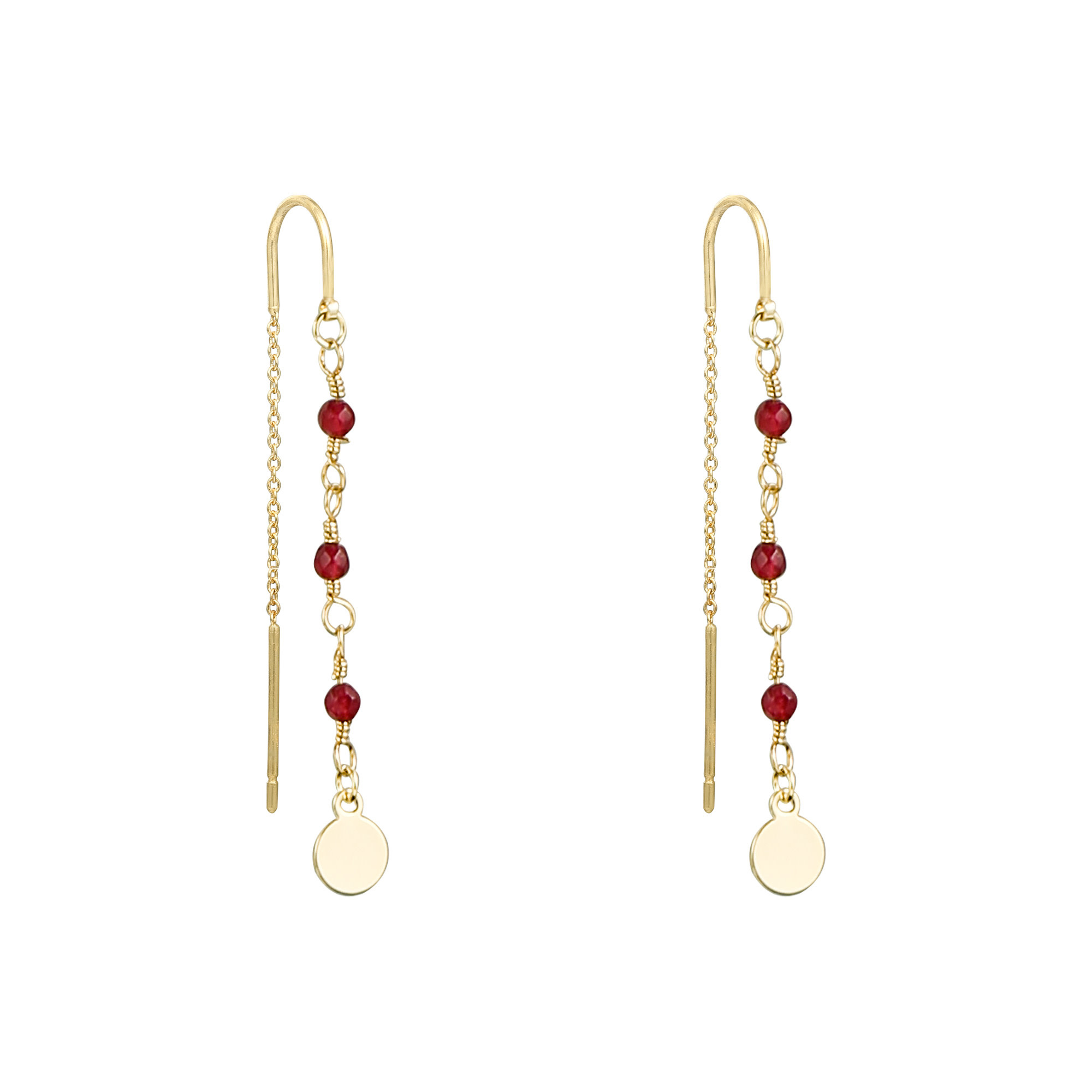 With love Earrings dangle - red