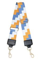 With love Bag strap blocks - blue orange