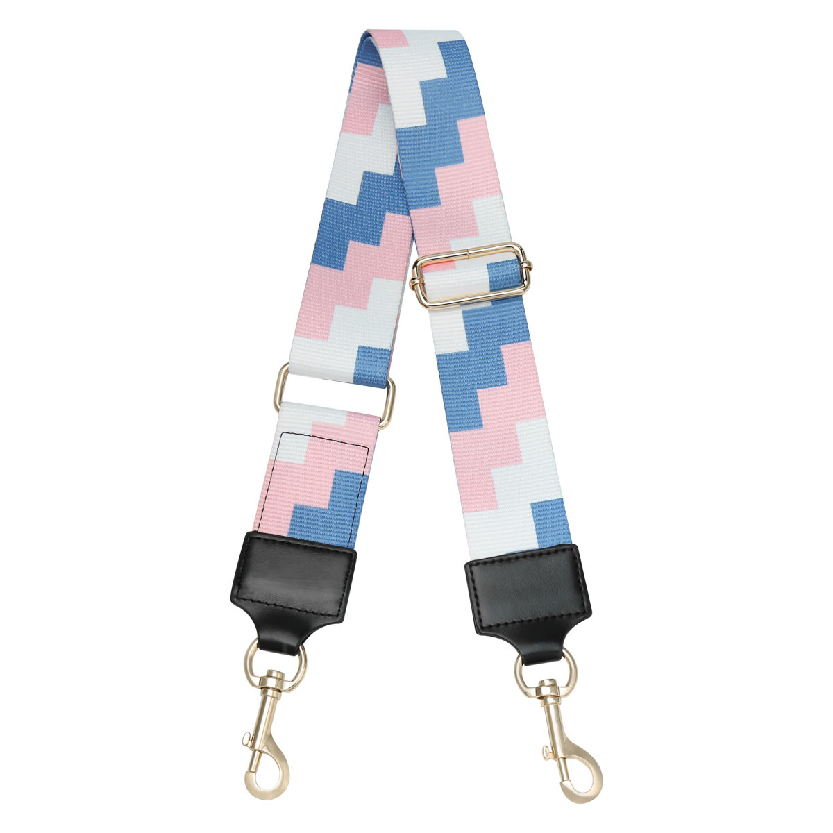 With love Bag strap blocks - blue pink