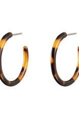 With love Earrings melee rings - cognac