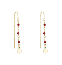 With love Earrings dangle red