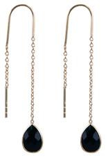 Treasure Earrings GP onyx (black)