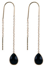 Treasure Silver earrings GP onyx (black)