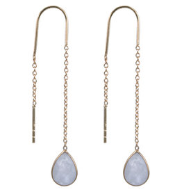 Treasure Earrings GP moonstone
