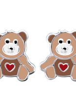Treasure Silver earrings bear