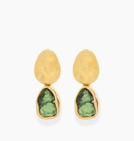 Détail Detail earrings Floriana Tourmaline green GP (7753)